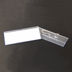 Badge speld 60x20mm glashelder (10x)