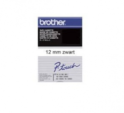 Brother tape wit/zwart 12mm