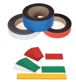 Magneetband 0,6mm geel 15mm n.k. 10mtr.
