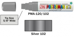 Posterman PMA120/120 zilver 15mm